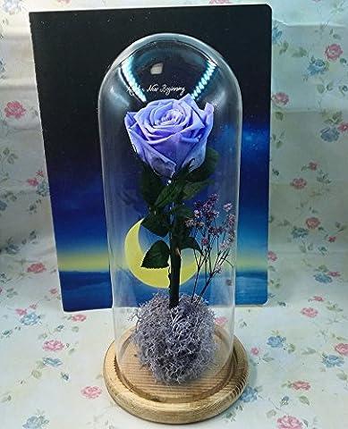 HOOM-Fleur rose éternelle Creative couvercle en verre boîte-cadeau pour envoyer
