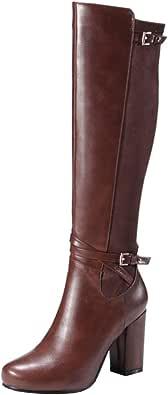 Lydee Donne Classic Equestrian Stivali Cerniera Tacco Blocco