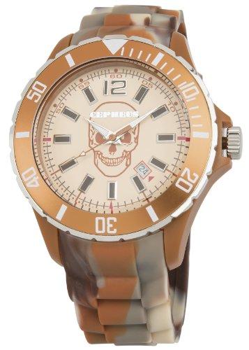 CEPHEUS Army CPX01-095A - Reloj analógico de cuarzo unisex, correa de silicona color marrón