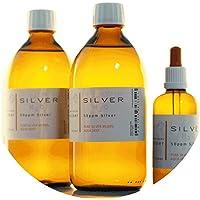 Preisvergleich für PureSilverH2O 1100ml kolloidales Silber (2x 500ml/50ppm) + Pipettenflasche (100ml/50ppm) Reinheit & Qualität seit...