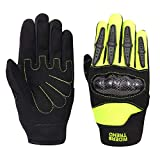 Riders Trend 10010113 Children Cross Country/Motocross Knuckles Protection Racing Cycling Gloves, Guanti Bambino, Black/Lime Green, Child-Large