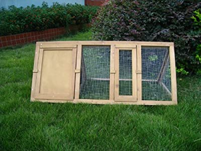 Marko Wooden Outdoor Triangle Rabbit Hutch and Run Guinea Pig Ferret Coop Cage Running by Marko