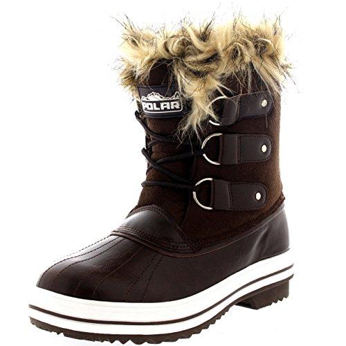 femmes-fourrure-brassard-caoutchouc-court-hiver-pluie-chaussure-bottes-brs38-ayc0082