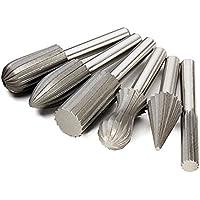 6pcs / set 6 millimetri Shank acciaio di tungsteno Rotary file taglierina dell'incisione Bit di macinazione per Attrezzi rotanti