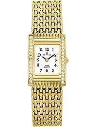 Certus 631649 - Reloj analógico de cuarzo para mujer con correa de metal, color dorado