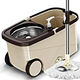 SCDTB Spin Mop Fournitures de Nettoyage du Sol - Acier Inoxydable Spinning...