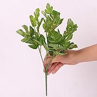5-rama Hoja Hierba Manojo Follaje Monstera Planta Artificial Decoración 32cm