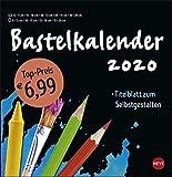Bastelkalender schwarz groß. Bastelkalender 2020. Monatskalendarium. Spiralbindung. Format 32 x 33 cm -