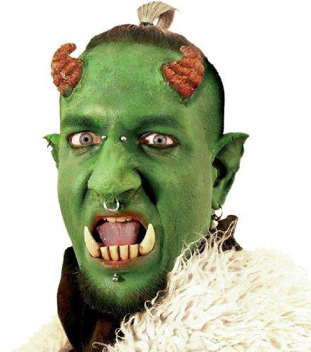 Zähne Gebiss Kostüm Zubehör Troll Halloween Karneval Fasching (Ork Hauer Kostüm)
