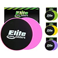 Elite Sportz 2 Discos Deslizantes para abdominales sliders ejercicio - deslizadores son de doble cara para su uso en alfombras y pisos de madera. (Rosado)