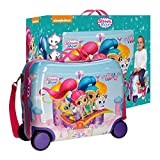 Okami Bags Shimmer and Shine Wish Trolley Rigido Cavalcabile da Viaggio con Quattro Ruote