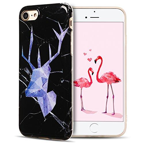 IPhone 7 Hülle, iPhone 7 Case, Apple 8 Handyhülle, Spiritsun Weiche TPU Hülle für Weihnachten Kawaii Cover Hochwertige Funkelnde Luminoso Hülle Elegante Flessibile Liscio Flamingo Protezione Hülle für Cervo getestet 2
