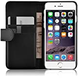 "iPhone 6 Case, JAMMYLIZARD Leather Wallet Flip Cover for iPhone 6 / 6s 4.7"", Black"