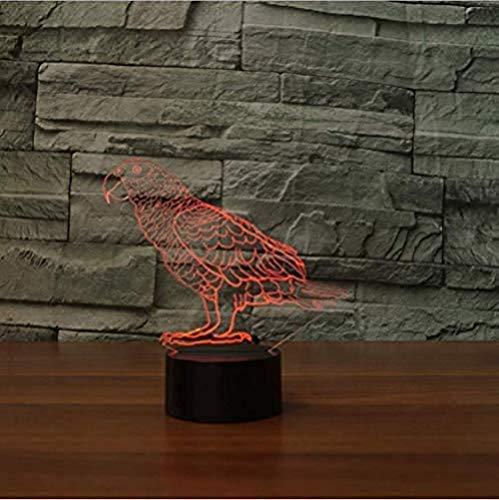 7 Farbe Atmosphäre Led Tischlampe Wellensittich Vogel Nachtlicht Usb Touch Button Papagei Form Baby Traum Beleuchtung Kinder Geschenk -
