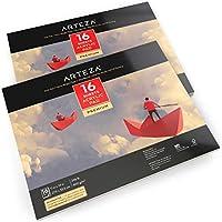 Cuadernos De Papel Para Acrílico Arteza De 27,9 X 35,5 Centímetros - Pack De 2 Blocs De 16 Hojas Para Pintura (32 Total)