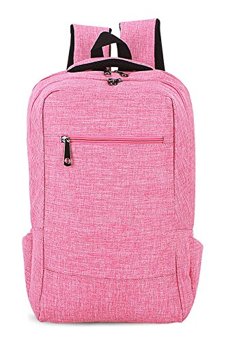 Leinwand neuer Stil Schulrucksäcke/Rucksack Damen/Mädchen Vintage Schule Rucksäcke mit Moderner Streifen für Teens Jungen Studenten Rosa Keshi WWgTC0