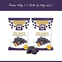 Wonderland Foods Dried Pitted Prunes 400g (Pack of 2 x 200gm)