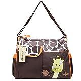 Fafada Sacs à Langer de Maman pour Bébé Enfant Sac à Main Sacs Bandoulières Sacs à Couches Multifonctionnel (C Orange Girafe)