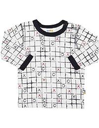 440cfcbd64479 Joha T-shirt à manches longues en bambou Grilles de morpion top bébé  vêtements bébé