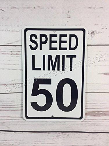 Mentalsign Straßenverkehrsschild Speed Limit 50 km/h 50 Geburtstag Party -