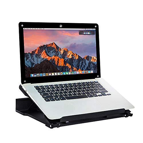 DESIGNA Verstellbarer Laptopständer für Schreibtisch, tragbarer Desktop-Laptophalterfuß Faltbarer, ergonomischer Notebook-Riser-Halter für iPad / Laptop / Buch