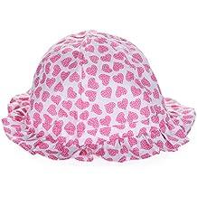 Samber Sombrero con Visera Ancha para las Niñas Gorra con diseño gracioso Sombrero para Proteger del Sol Sombrero para excursión y playa.