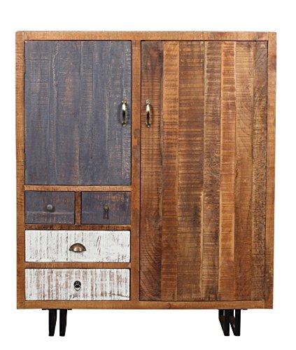 The Wood Times Kommode Schrank Massiv Vintage Look Rustic Mangoholz, FSC Zertifiziert, BxHxT 120x142x40 cm - 2