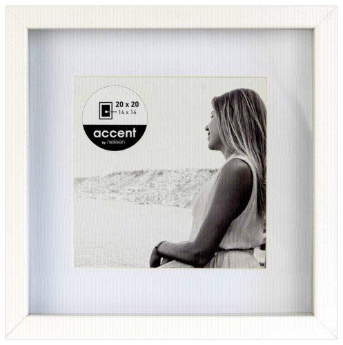 Nielsen Design - Bilderrahmen aus Holz, Farbe Weiß, 20 x 20 cm