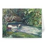 Ophelia (w/c on paper) by Sir John Everett.. - Grußkarten (2er Packung) - 17,8x12,7 cm - Standardgröße - Packung mit 2 Karten - Art247