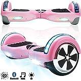 Magic Vida Skateboard Électrique 6.5 Pouces Puissance 700W avec Haut Parleur Bluetooth et LED Gyropode Auto-Équilibrage de Bonne qualité pour Enfants et Adultes (Rose)