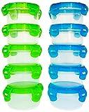 elacra Baby Frischhaltedosen BPA frei gefriergeeignet mikrowellengeeignet luftdichter Kleine Behälter Set, 10Stück, 3,4oz