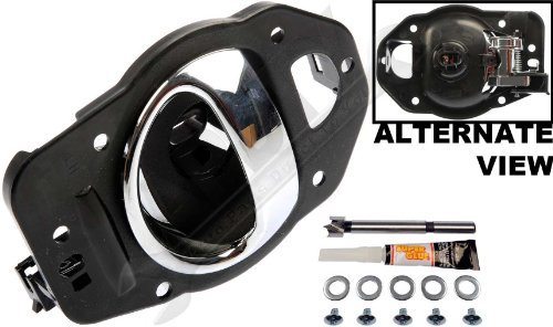 APDTY 91470 Interior Door Handle Replacement Kit Fits Left Driver-Side Front Or Rear For 2006-2010 Chevy HHR Chrome (Fix For GM Door Panel 19299614, 25812196) by APDTY (Interior Drivers Door Panel Side)