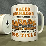 Sales Manager | Because Badass Miracle Worker is Not...a Job Title - Mug
