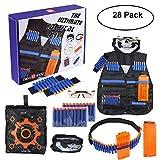 Kids Tactical Vest Kit für Nerf Guns N-Strike Elite Serie, Tactical Vest Kit Camo Passend für Alle Nerf Companys Blasters Toy Gun