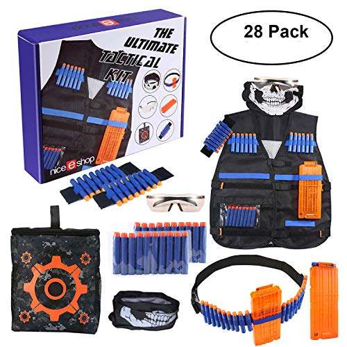Kids Tactical Vest Kit für Nerf Guns N-Strike Elite Serie, Tactical Vest Kit Camo Passend für Alle Nerf Companys Blasters Toy Gun