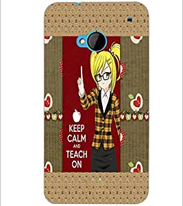 PrintDhaba Quote D-5091 Back Case Cover for HTC ONE M7 (Multi-Coloured)