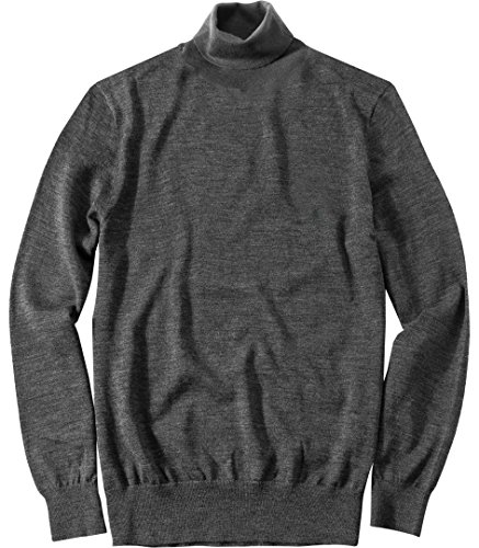 Polo Ralph Lauren Herren Rollkragen-Pullover Troyer Uni & Uninah, Größe: S, Farbe: Grau (Lauren Rollkragen Ralph Pullover)