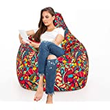 Aart Store Digital Canvas Printed Bean Bag with Filled Beans – Perfect Solution for Home/Office Décor