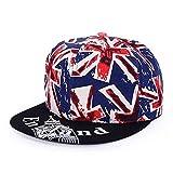 DAMENGXIANG Hight Qualität Unisex Baseball Caps Hip Hop Kappe Snapback Hut Flachkrempe HutVerstellbare Flat Hat Visor Blau