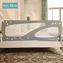 Hot Mom - barandillas de la cama 150 cm para bebés, portátil y estable, barrera de seguridad