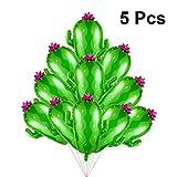 BESTOYARD 5pcs Ballons de fête de Cactus Hawaii Mylar Ballons été Ballon d'actualité en Aluminium Film pour Anniversaire Mariage Hawaii thème Partie décoration Fournitures (Vert)...