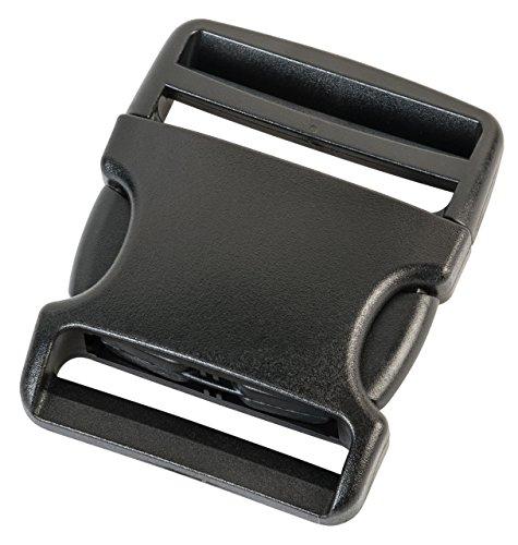 Duraflex plastic buckles in 20 mm, 25 mm, 38 mm, 50 mm, black color, plastic buckle closures, replacement buckles, 7046, Black, 50 mm