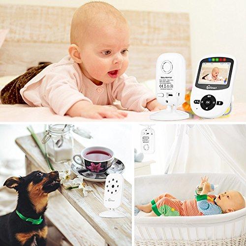 iLifeSmart SM24 Video Baby Monitor 2.4 Inch Babyphone mit Nachtsicht Temperaturüberwachung und Timer-Einstellung Funktionen Drahtlos Digital Kamera - 7