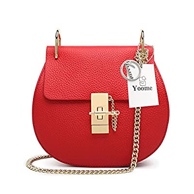 Yoome Punk Style U-Ring Flap Bag Chain Bag Crossbody Envelope Bag Clutch Mini Bags For Girls