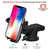#5: Amore Smart Universal Mobile Stand For Car (Car Mount) With Quick One Touch Technology (Expandable & Rotatable) With Double Shift Locking For Windscreen, Dashboard & Table Desk (Black).