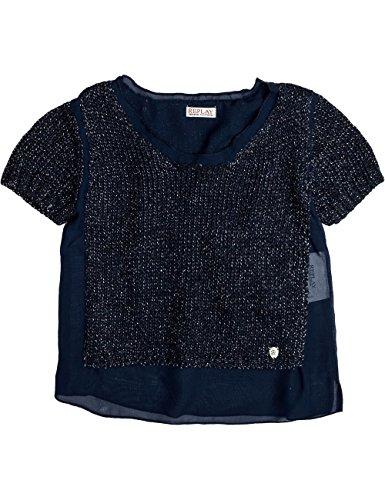 Replay Mädchen Pullover Pulli, Einfarbig, Gr. 164 (Herstellergröße: 14A), Blau (NIGHT BLUE Preisvergleich