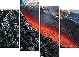 1art1 58859 Vulkane - Lavafluss Bei Ätna Vulkanausbruch,