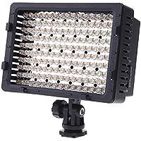 Andoer Panel de luz LED regulable de 160 PCS 3200K-5400K CN-160 para cámara de vídeo y digital SLR Canon Nikon, Pentax, Panasonic, Sony, Samsung y Olympus