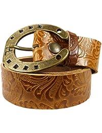 5a46cae1c6ab8f Westernwear-Shop Ledergürtel Daisytown & Ironhoof Gold Ledergürtel mit  Gürtelschnalle Westerngürtel Damengürtel Westernkleidung Braun