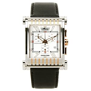 Lotus 9942/1–Reloj de pulsera de hombre, correa de piel color negro
